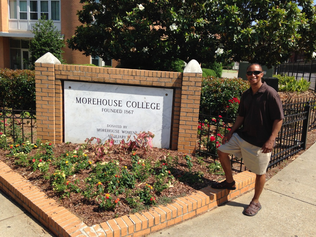 PCA President & CEO Najja Orr on the campus of Morehouse College